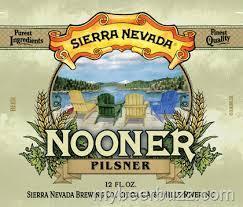 Sierra Nevada Nooner Pilsner beer Label Full Size