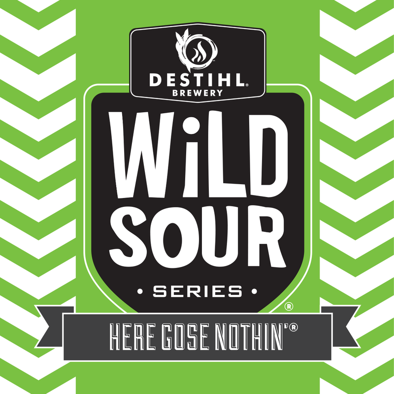 Destihl Wild Sour Series: Here Gose Nothin' beer Label Full Size