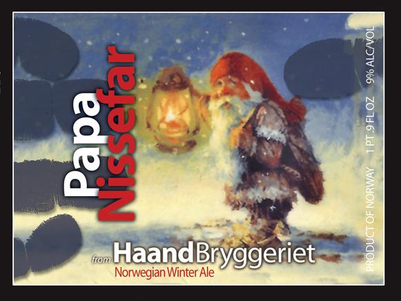 Haandbryggeriet Nissefar beer Label Full Size