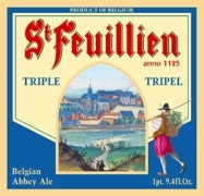 St. Feuillien Triple beer Label Full Size