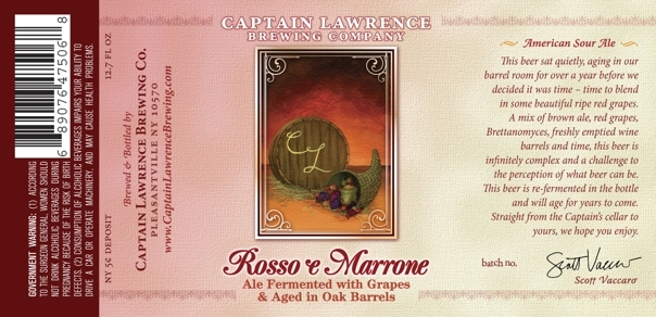 Captain Lawrence Rosso e Marrone beer Label Full Size
