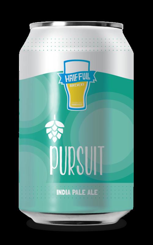 Half Full Pursuit IPA beer Label Full Size