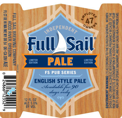 Full Sail Pale Ale beer Label Full Size