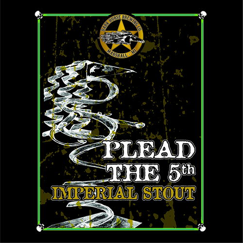 Dark Horse Plead the 5th beer Label Full Size