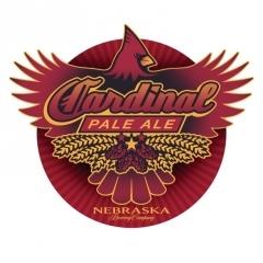 Nebraska Cardinal Pale Ale beer Label Full Size