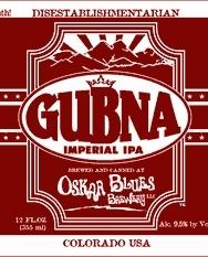 Oskar Blues Gubna beer Label Full Size