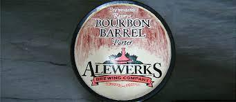 AleWerks Bourbon Barrel Porter 2013 beer Label Full Size
