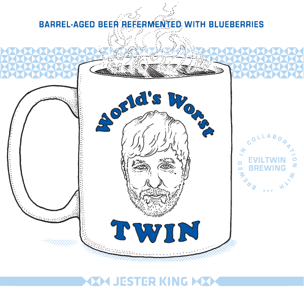 Jester King / Evil Twin World's Worst Twin beer Label Full Size