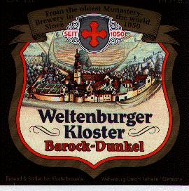 Weltenburger Hefeweizen Dunkel beer Label Full Size