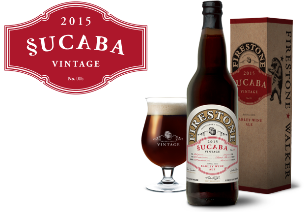Firestone Walker Sucaba 2015 beer Label Full Size