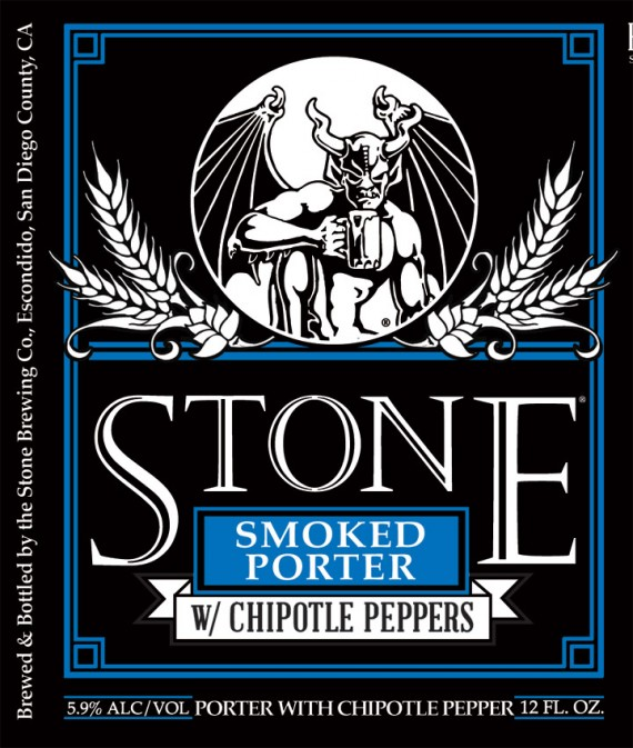 Stone Smoked Porter With Chipotle beer Label Full Size