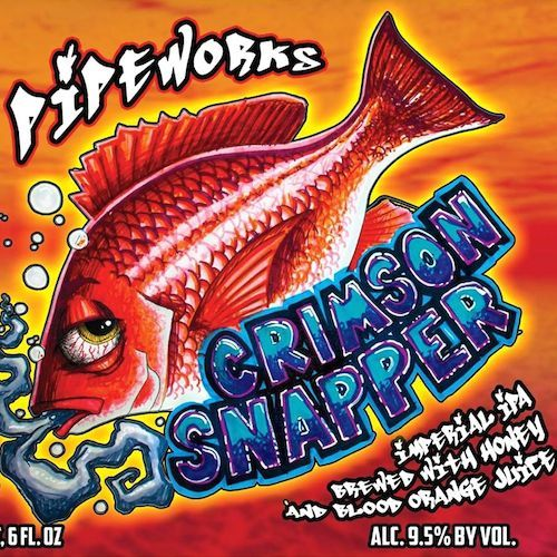 Pipeworks Crimson Snapper beer Label Full Size