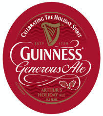 St. Jame's Gate Guinness Generous Ale beer Label Full Size