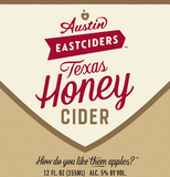 Austin Eastciders Texas Honey Cider beer