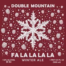 Double Mountain Fa La La La La Winter Ale beer Label Full Size