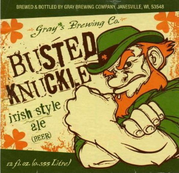 Gray's Busted Knuckle beer Label Full Size