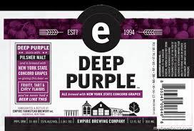 Empire Deep Purple beer Label Full Size
