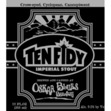 Oskar Blues Bulleit Bourbon Barrel Aged Ten Fidy 2013 beer Label Full Size