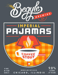 Begyle Imperial Pajamas Coffee Stout beer Label Full Size