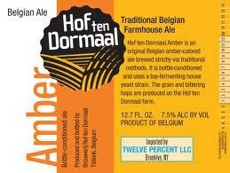 Hof Ten Dormaal Amber beer Label Full Size