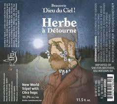 Brasserie Dieu du Ciel L'Herbe beer Label Full Size