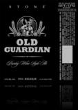 Stone Old Guardian Barleywine Extra Hoppy Beer
