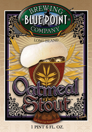Blue Point Oatmeal Stout beer Label Full Size