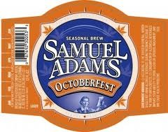 Sam Adams Octoberfest beer Label Full Size