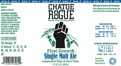 Rogue Chatoe Single Malt Ale Beer