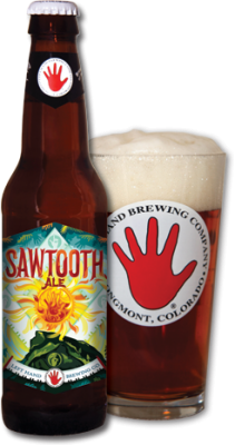 Left Hand Sawtooth Ale beer Label Full Size