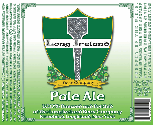 Long Ireland Pale Ale beer Label Full Size