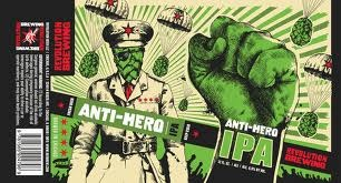 Revolution Anti-Hero beer Label Full Size