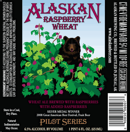 Alaskan Raspberry Wheat beer Label Full Size