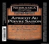 Nebraska Apricot au Poivre Saison Beer