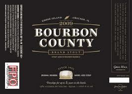Goose Island Bourbon County Stout 2009 beer Label Full Size