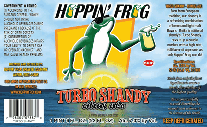 Hoppin' Frog Turbo Shandy Beer