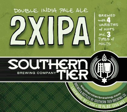 Southern Tier 2XIPA beer Label Full Size