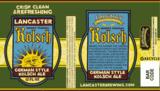 Lancaster Kolsch beer