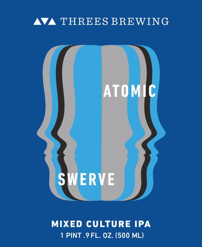 Threes Atomic Swerve beer Label Full Size