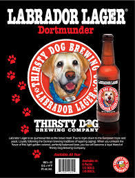 Thirsty Dog Labrador Lager beer Label Full Size