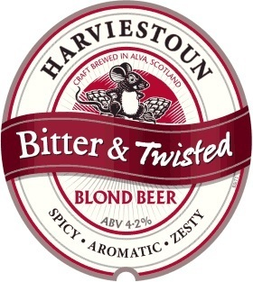 Harviestoun Bitter & Twisted beer Label Full Size