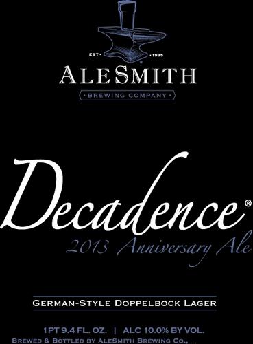 AleSmith Decadence Beer