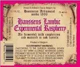 Hanssens Experimental Raspberry Beer
