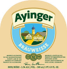Ayinger Bräuweisse beer Label Full Size