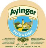 Ayinger Bräuweisse beer