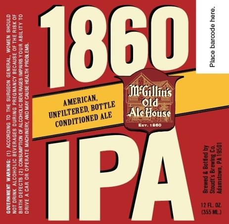 McGillin's 1860 IPA beer Label Full Size