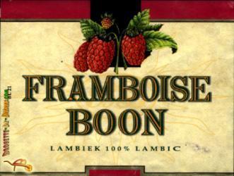 Boon Framboise beer Label Full Size