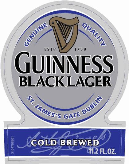 Guinness Black Lager beer Label Full Size
