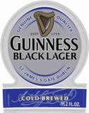 Guinness Black Lager beer