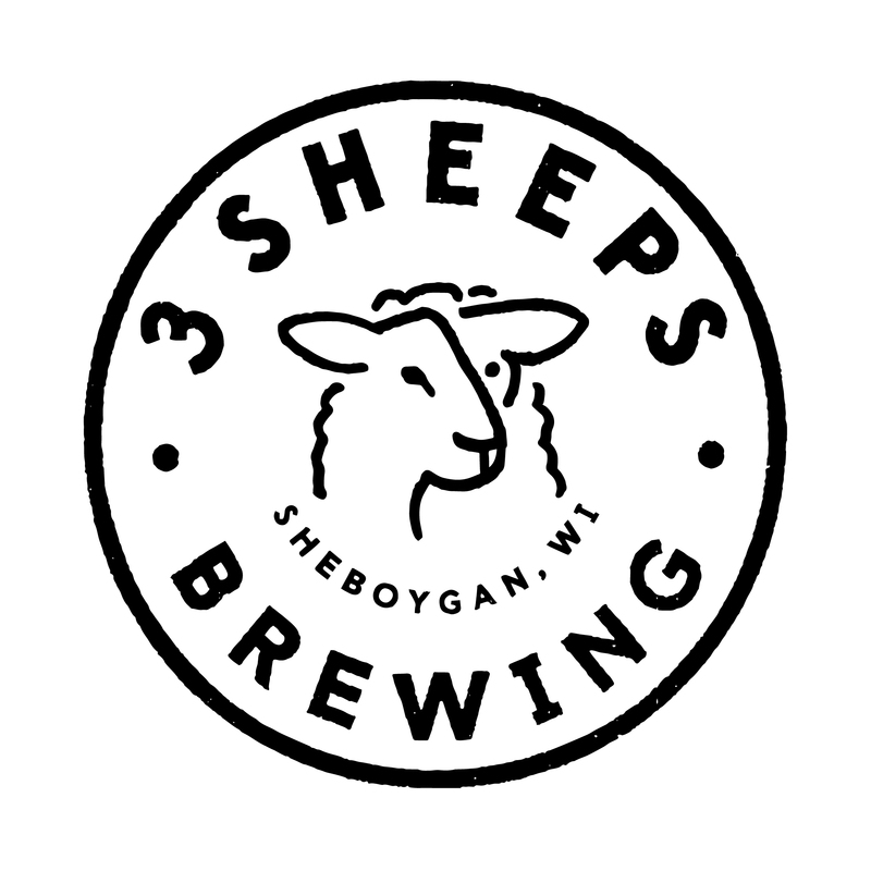 3 Sheeps Roll Out The Barrel beer Label Full Size